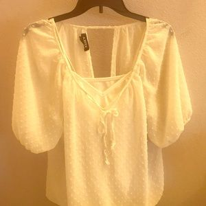 Tops - White Blouse with Open back